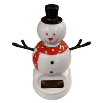 SOLAR DANCING CHRISTMAS SNOWMAN  xmas decoration ornament toy snow